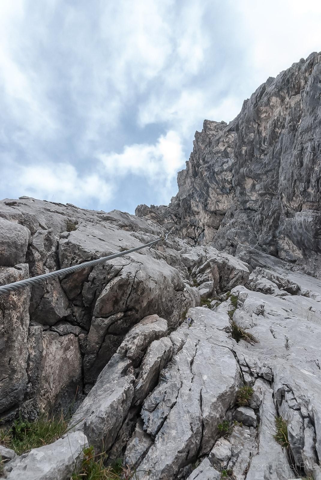 Adlerklettersteig, Karkopf 2469 m, Mieminger Kette